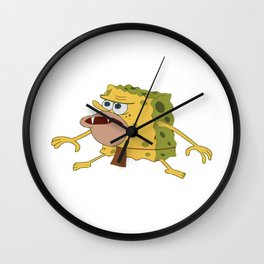 spongebob old Wall Clock