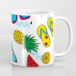 Modern Summer Elements Pattern Art Coffee Mug