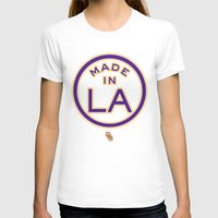 lakers T-shirts featuring Made in LA - LAKERS by DCMBR - December Creative Group