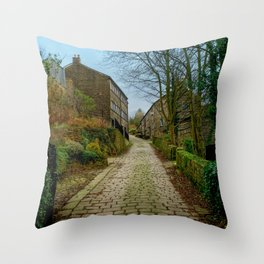 Cottages and Cobbles Throw Pillow