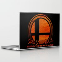 super smash bros Laptop & iPad Skins featuring Super Smash Bros.  by Donkey Inferno