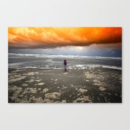 If the Apocalypse Comes I Hope I Have My Rainboots On... Canvas Print