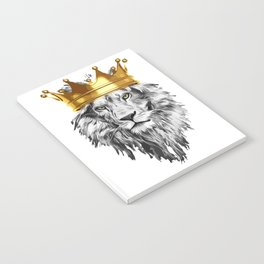 lion with a crown power king Notebook