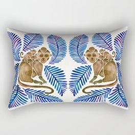Monkey Cuddles – Navy Leaves Rectangular Pillow