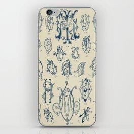 Ornate lettering pattern iPhone Skin