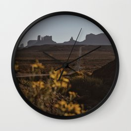 Monument Valley Flowers Wall Clock