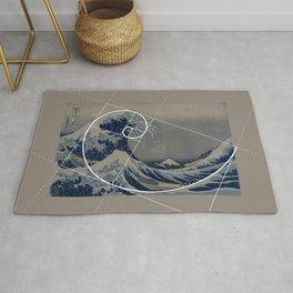 Hokusai Meets Fibonacci Rug