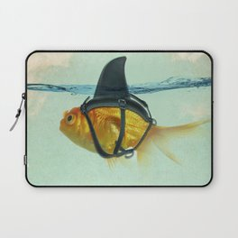 Brilliant DISGUISE - Goldfish with a Shark Fin Laptop Sleeve