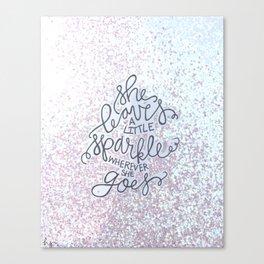 She Leaves A Little Sparkle -  Sparkle BW Canvas Print