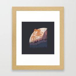 MTB  Drop Framed Art Print