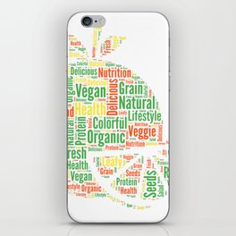 Vegan Cloud Veggie Vegetarian Organic Gift iPhone Skin