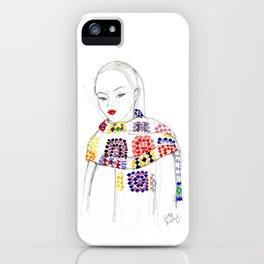 Rainbow Crochet iPhone Case