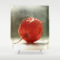 lantern Shower Curtains featuring Chinese Lantern... by Nature In Art...