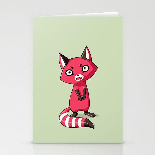 Shy Raccoon Stationery Cards