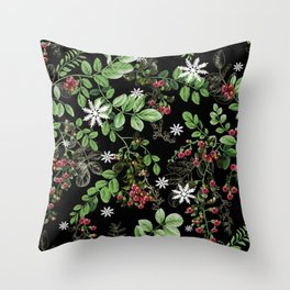 mid winter berries Throw Pillow