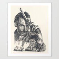 Walking Dead Art Print