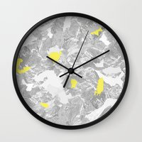 maps Wall Clocks featuring Maps. by valennelav