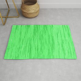 Fresh green fibers, abstract rainfall, natural colors, forest theme texture, pattern Rug