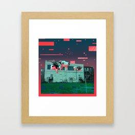 Git Yer Goat (pink) Framed Art Print