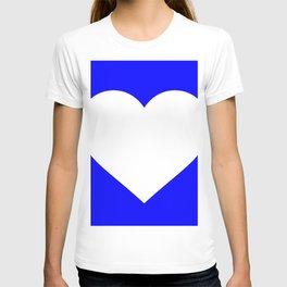 Heart (White & Blue) T-shirt