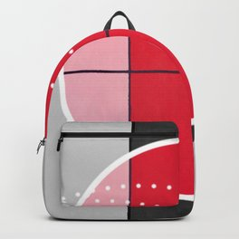August - black and white graphic Backpack