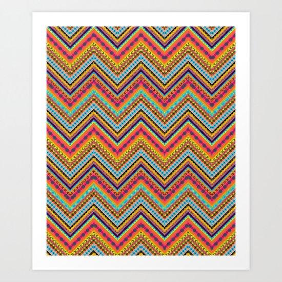 Tribal Chevron Art Print