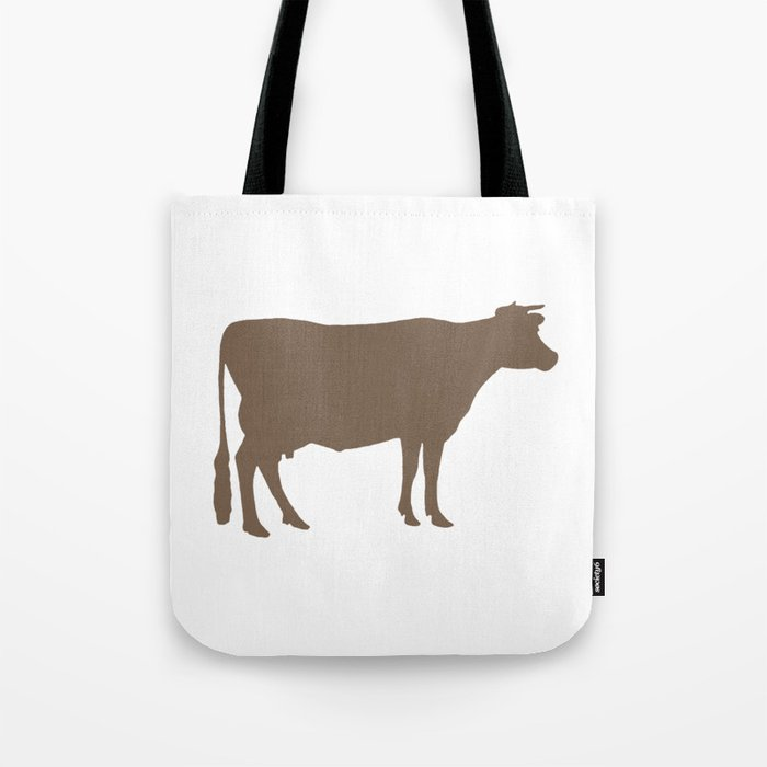 Cow: Brown Tote Bag