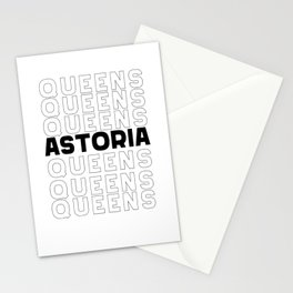 Astoria Queens New York graphic for Astoria Fans Stationery Cards