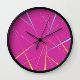 Laser Light Show - Pink Wall Clock