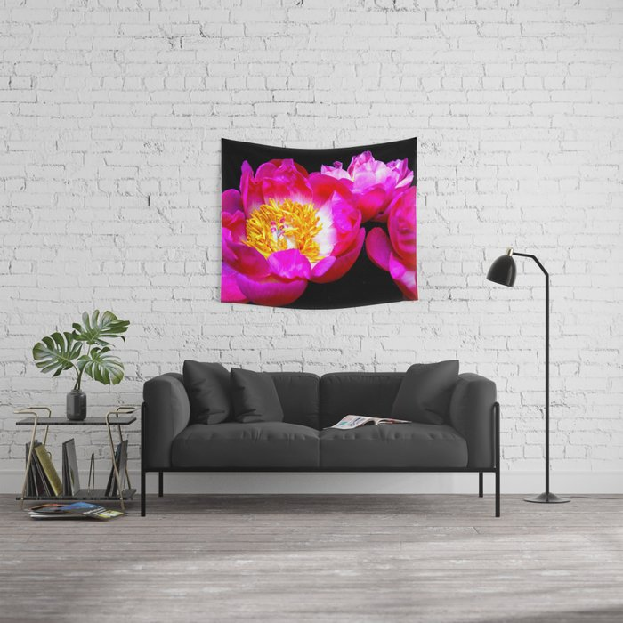 Spring Peonies  Wall Tapestry