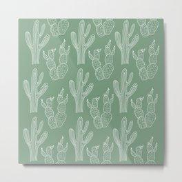 Green Cacti Metal Print