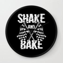 SHAK EAND BAKE Race Day Race Car Driver Wall Clock