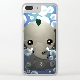 Punky Pachyderm - Blue Clear iPhone Case