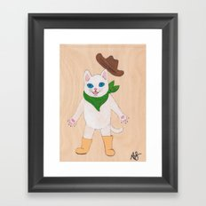 Woah! Kitty Framed Art Print