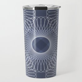 Circled in Shades of Sapphire Blue Travel Mug