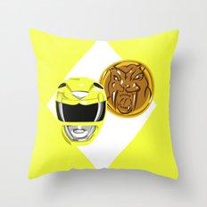 Yellow Ranger Throw Pillow