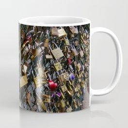 Love padlocks on Pont des Arts, Paris Coffee Mug