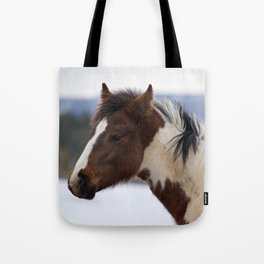 Tri-Colored Horse Tote Bag
