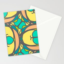 Multicolored decorative seamless pattern with mosaic ornaments Stationery Cards