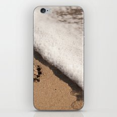 Foot print in the sand iPhone & iPod Skin