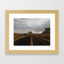 Chaco Canyon Sunet Framed Art Print