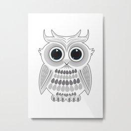 White Owl Metal Print