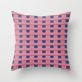 american flag2-Usa,america,united states,us,stars and strips,patriotic,patriot,star spangled banner Throw Pillow