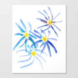 Blue Sunflower Canvas Print
