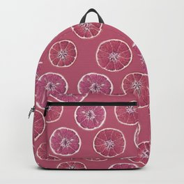 Pink Oranges Pattern Backpack