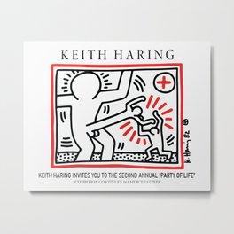 Fighting Aids - Keith Art, Exhibition Poster, Japan Vintage Print Metal Print