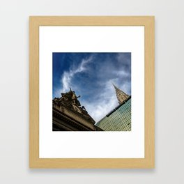 Slice of New York - Grand Central Station, Skyscraper and Office Building Framed Art Print