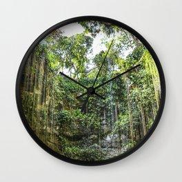 Cenote, Mexico Wall Clock