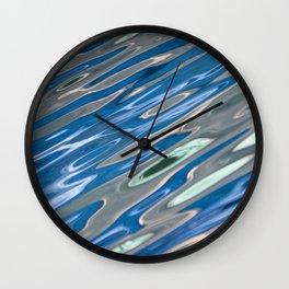 Abstract Blue and Grey Wall Clock