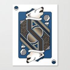Wolf Card. Canvas Print